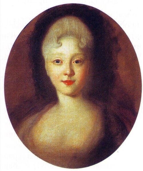Иван Никитин, «Портрет юной Елизаветы Петровны», 1720-е гг.