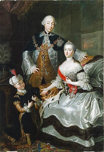 Анна Розина де Гаск, «Великая княгиня Екатерина Алексеевна с супругом Петром III Фёдоровичем»