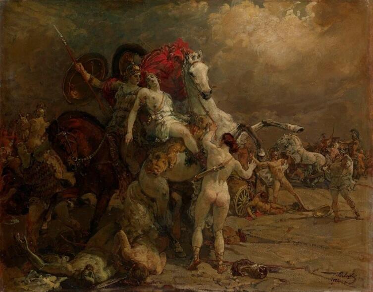 Г. К. Савицкий, «Раненая амазонка Камилла», 1922 г.