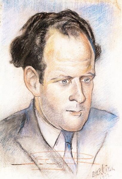 Д. Д. Бурлюк, «Портрет Сергея Эйзенштейна», 1932 г.