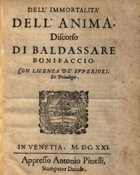 Титульный лист одного из сочинений Балдассаре Бонифацио