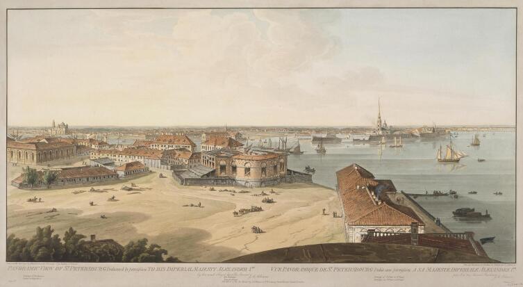 Дж. А. Аткинсон, «Недостроенная биржа Кваренги», 1802-1805 гг.