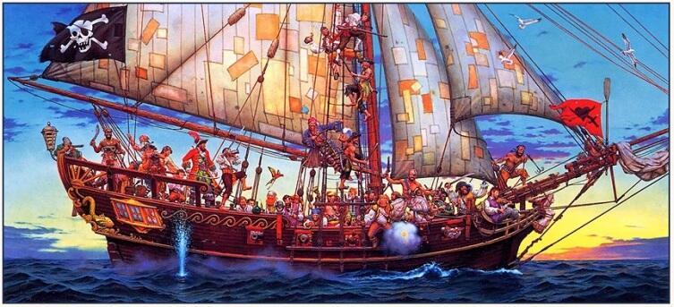 Дон Маитз, «Пиратский корабль»