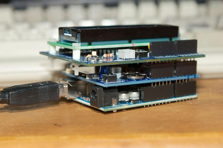 Классический конструктив Arduino с платами расширения