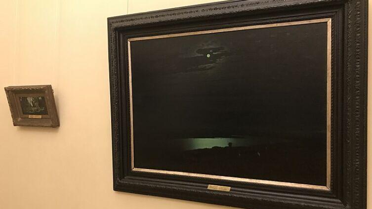 Картина «Лунная ночь на Днепре» в Государственном Русском Музее