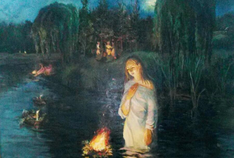 Марина Александровна Катайкина (Денисенко), «В ночь на Ивана купало» (фрагмент), 1999 г.