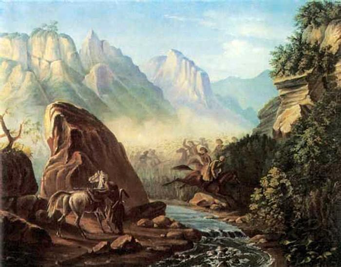 М. Ю. Лермонтов, «Перестрелка в горах Дагестана», 1840 г.