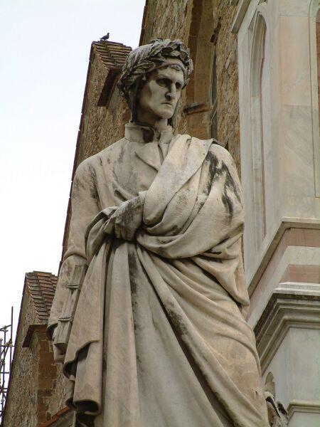 Памятник Данте 1865 г. Флоренция. Работа скульптора Э. Пацци