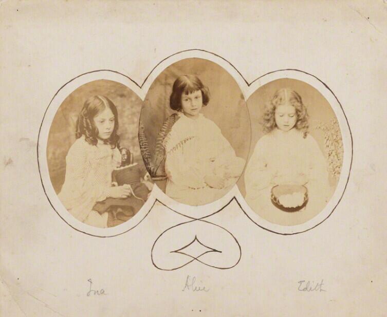 Сёстры Лидделл— Лорина, Алиса, Эдит— на фото Льюмса Кэрролла