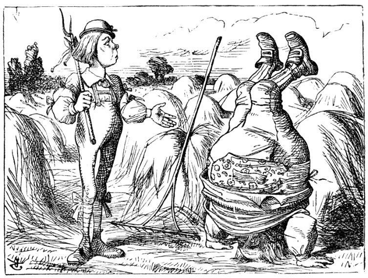 Рисунок Джона Тенниела к стихотворению Льюиса Кэрролла «Папа Вильям»