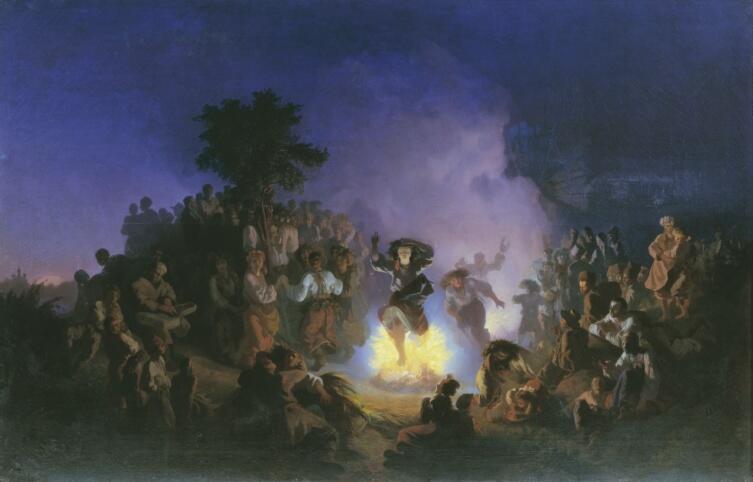 И. И. Соколов, «Ночь на Ивана Купалу», 1856 г.
