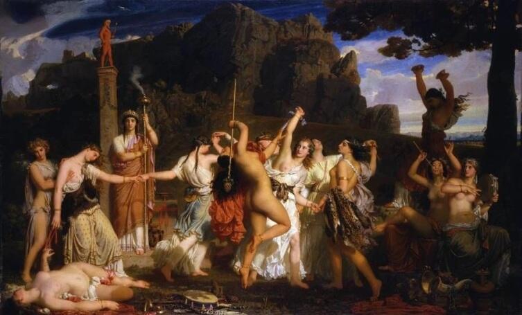 Шарль Глейр, «Танец вакханок», 1849 г.