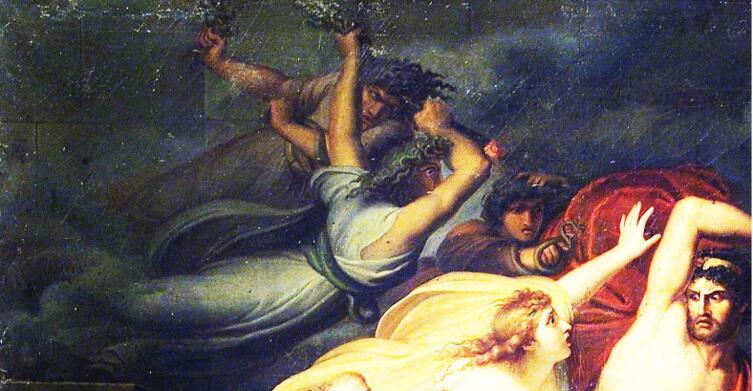 Архангел Микеле Мигларини, «Фурии преследуют Атаманта», фрагмент «Фурии», 1801 г.