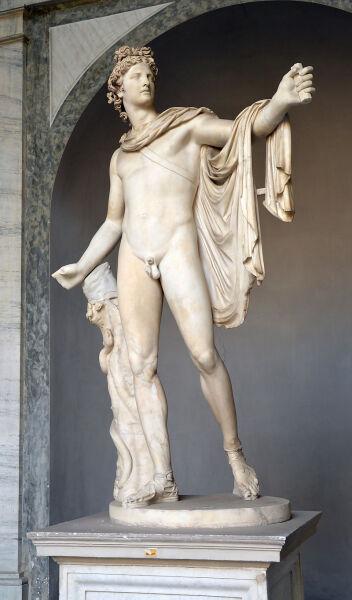 Статуя Аполлона Бельведерского в Ватикане