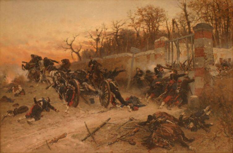 Альфонс де Невиль, «Защита ворот Лонбо в битве у замка Бузенваль 21 октября 1870 г.», 1870-е гг.