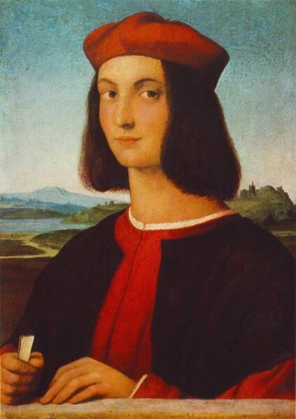 Рафаэль Санти, «Портрет Пьетро Бембо (Портрет кардинала Пьетро Бембо в юности)», 1506 г.