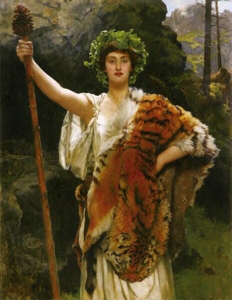 Джон Кольер, «Жрица Бахуса», 1885-1889 гг.