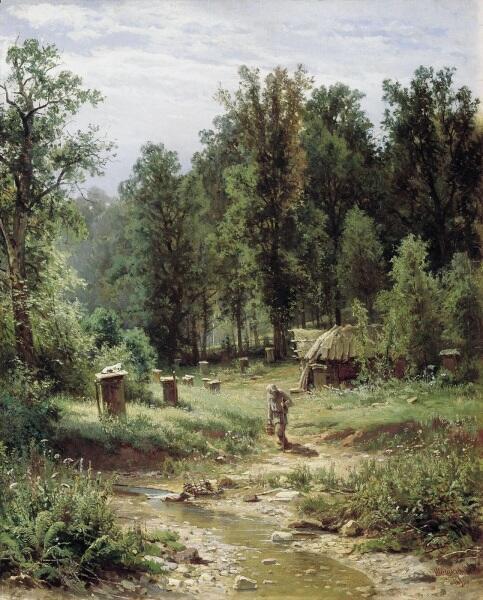 И. И. Шишкин, «Пасека в лесу», 1876 г.