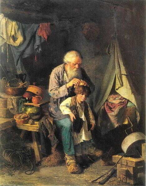 В. Г. Перов, «Дедушка и внучек», 1871 г.