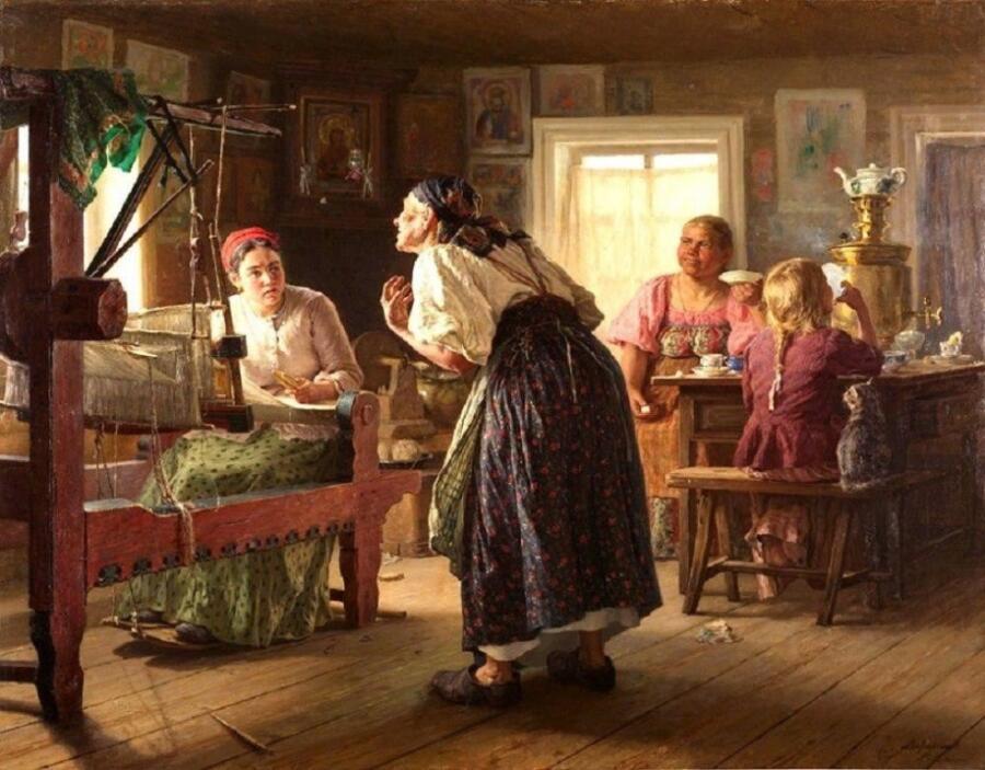 В. М. Максимов, «Злая свекровь», 1890-е гг.