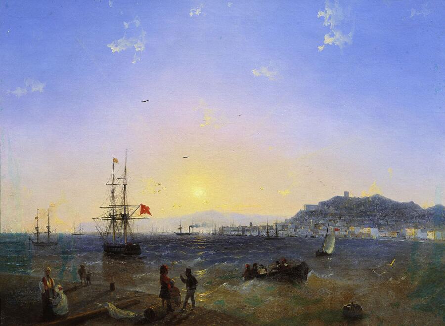 И. К. Айвазовский, «Вид Керчи», 1845 г.