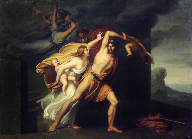 Архангел Микеле Мигларини, «Фурии преследуют Атаманта», 1801 г.