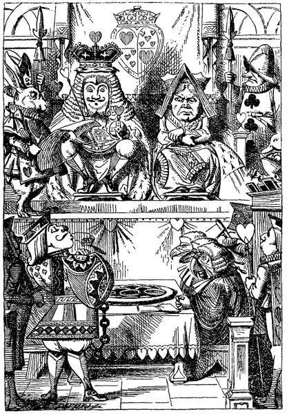 Король и Королева судят Валета