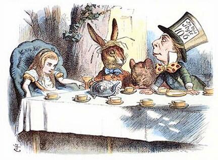 Безумное чаепитие. Иллюстрация Дж. Тенниела