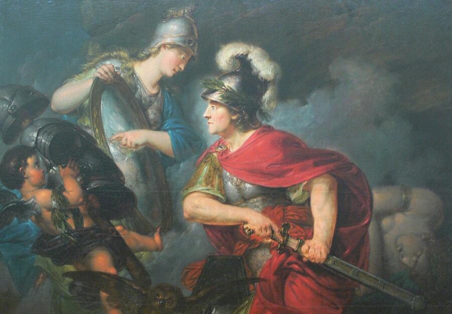 «Афина вручает Персею зеркальный щит», Бернхард Роде, 1789 г.