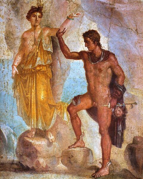 «Персей и Андромеда», древнеримская фреска из Помпей, Национальный археологический музей Неаполя