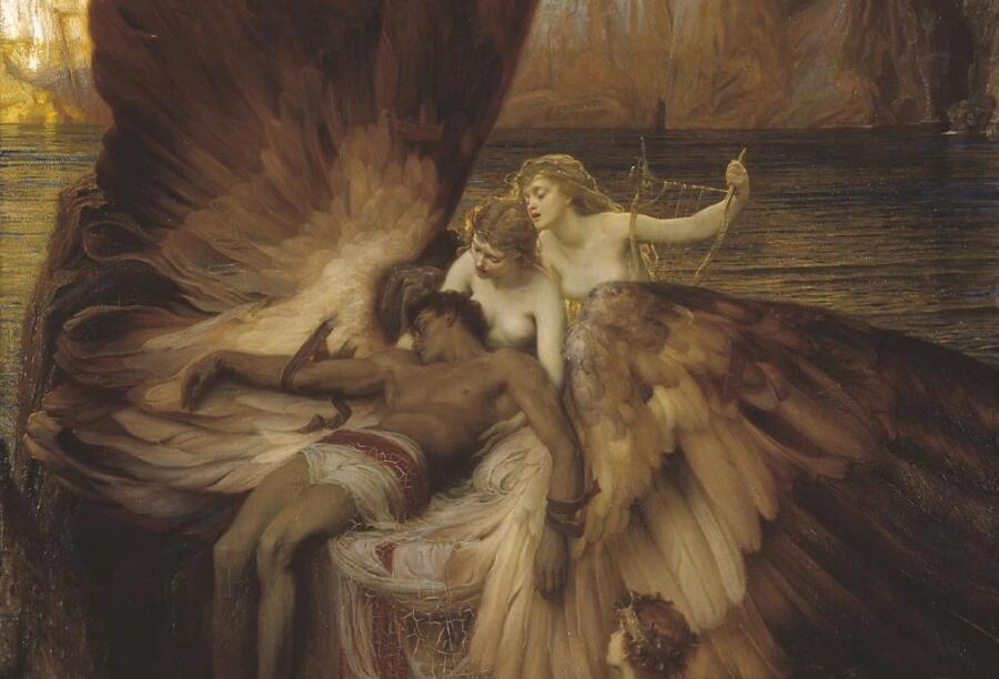 Герберт Дрейпер, «Оплакивание Икара» (фрагмент), 1898 г.