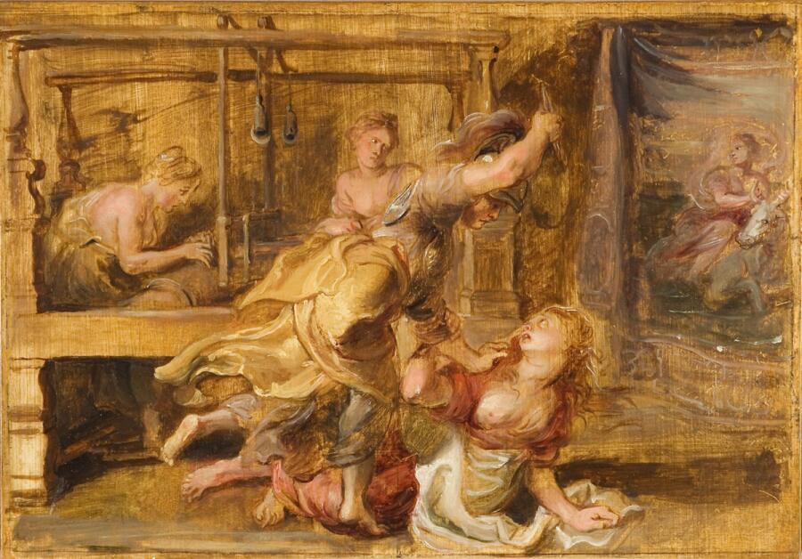 Питер Пауль Рубенс, «Паллада и Арахна», 1636 г.