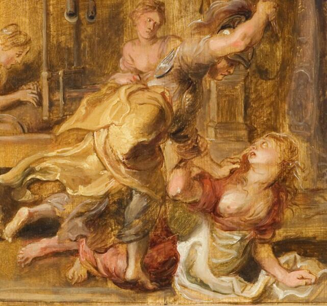 Питер Пауль Рубенс, «Паллада и Арахна» (фрагмент), 1636 г.