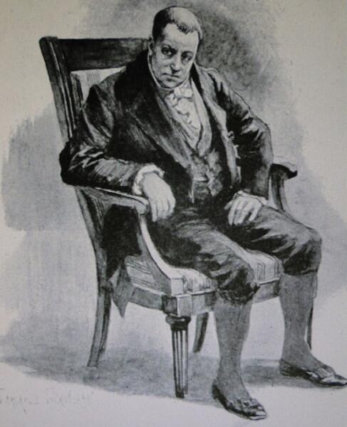 Рисунок Е.П. Самокиш-Судковской к очерку А.Ф.Кони о докторе Гаазе