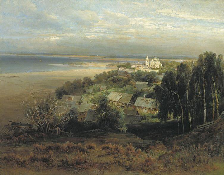 Саврасов А. К. Печерский монастырь близ Нижнего Новгорода, 1871 г.
