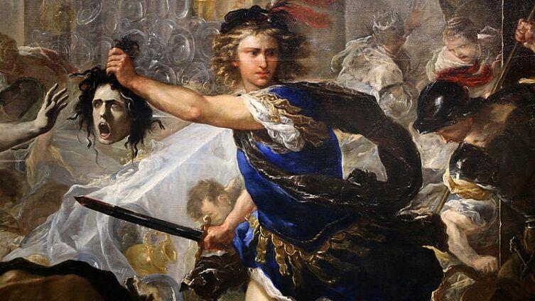 Лука Джордано, «Персей борется с Финеем и его товарищами», 1680—1684 гг., Лондонская национальная галерея
