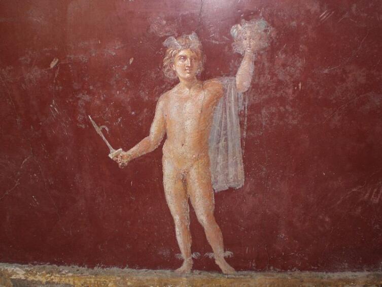 Древнеримская фреска «Персей с головой Медузы Горгоны», Вилла Сан-Марко в Стабиях, I век до н. э.