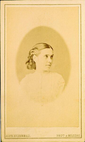 Аполлинария Суслова, сестра Надежды, фото 1867 г.
