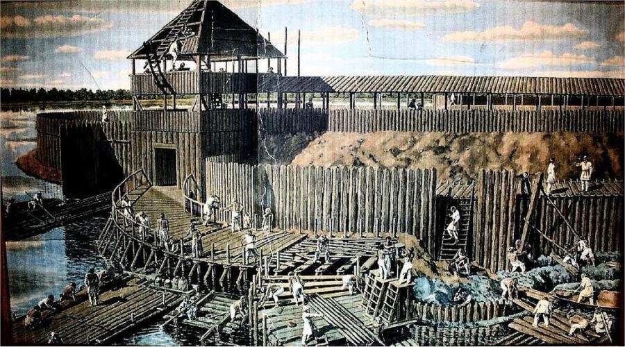 Славяне строят островную крепость в X веке