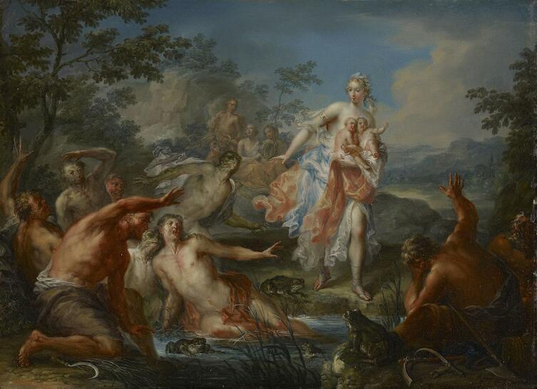 Иоганн Георг Платцер, «Латона превращает ликийских крестьян в лягушек», 1730 г.