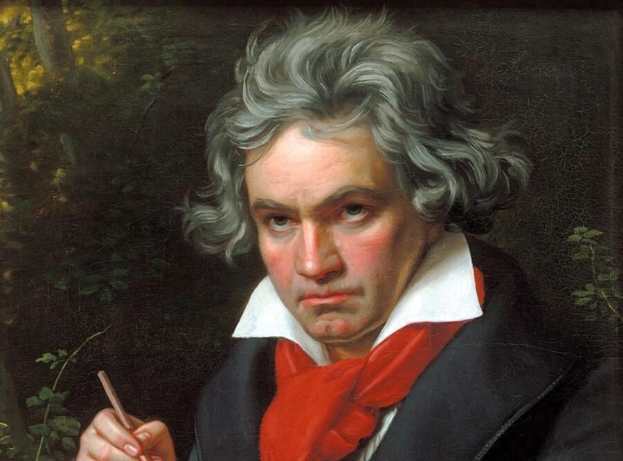 Йозеф Карл Штилер, «Портрет Людвига ван Бетховена» (фрагмент), 1820 г.