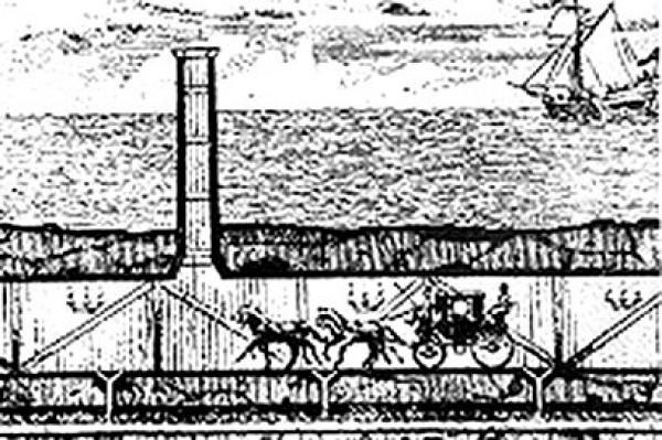 Эскиз французского инженера Альберта Матье-Фавье, 1802 г.