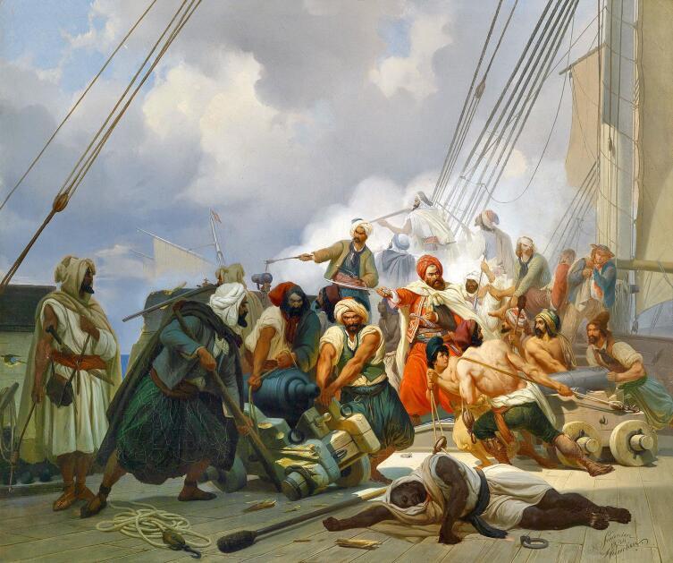 Нильс Симонсен, «Морской бой», 1844 г.