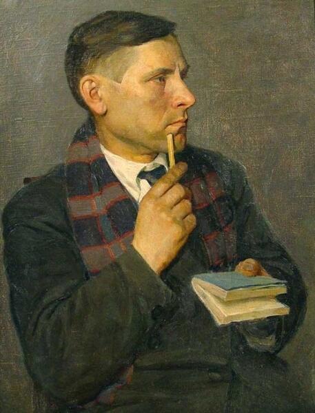 Н. Э. Радлов, «Портрет М. А. Булгакова», 1928 г.