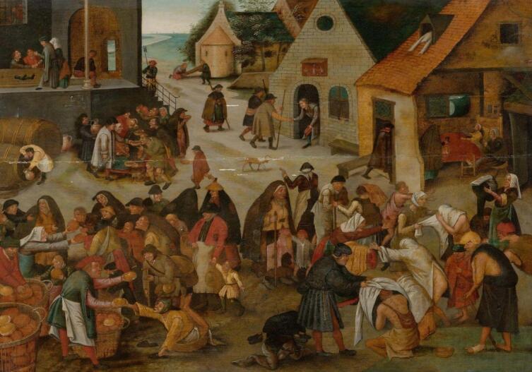 Питер Брейгель Младший, «Семь деяний милосердия», 1616 г.
