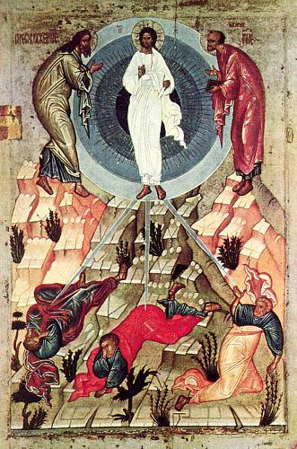 Преображение Господне. Икона, Новгород, XV век