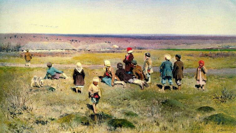А. С. Степанов, «Журавли летят», 1891 г.