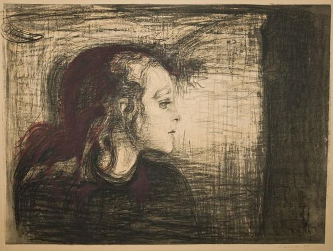 Эдвард Мунк, «Больной ребёнок», 1896 г.