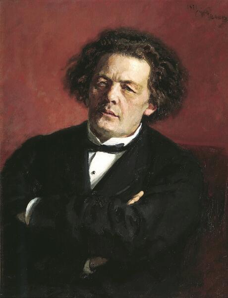 И. Е. Репин, «Портрет композитора Антона Григорьевича Рубинштейна», 1881 г.