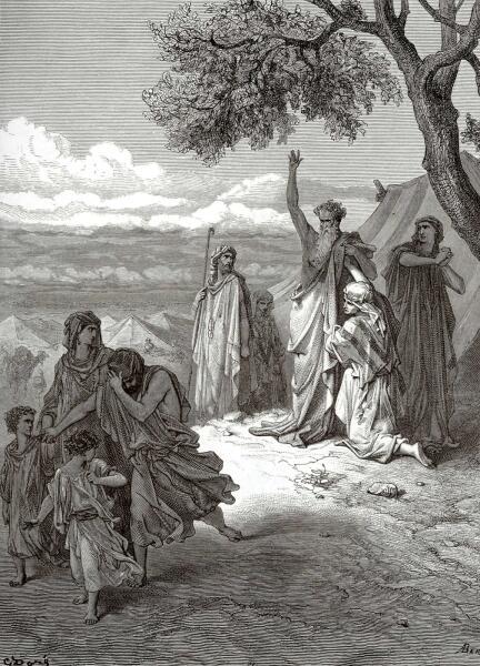 Поль Гюстав Доре, «Ной проклинает Хама», 1877 г.